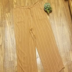 American eagle paper bag style pin striped pants